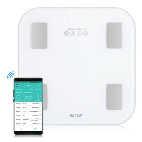 Digital Electric Bathroom Smart Scales Body Weight Fat Hydra