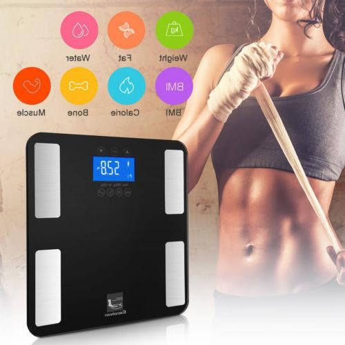 Digital Smart Weight Scale LCD Health Tracker BMI Muscle Bathroom