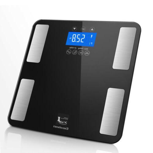 Digital Smart Body Fat Weight Scale Tracker Bathroom
