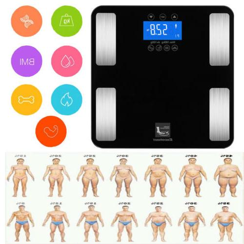 Digital Body Fat Weight LCD Bathroom
