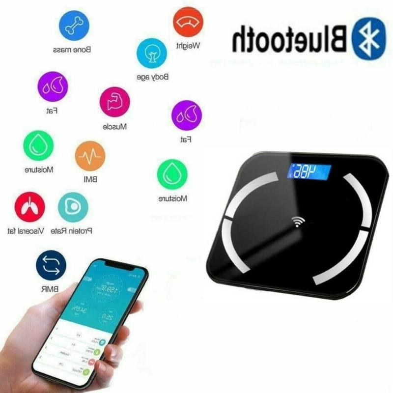 Bluetooth Body Fat Weight Scale Electronic Smart Fitness Ana