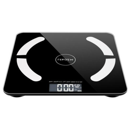 Digital Scale Body Fat Muscel Bluetooth Weight Scales 180kg/400lb +Battery