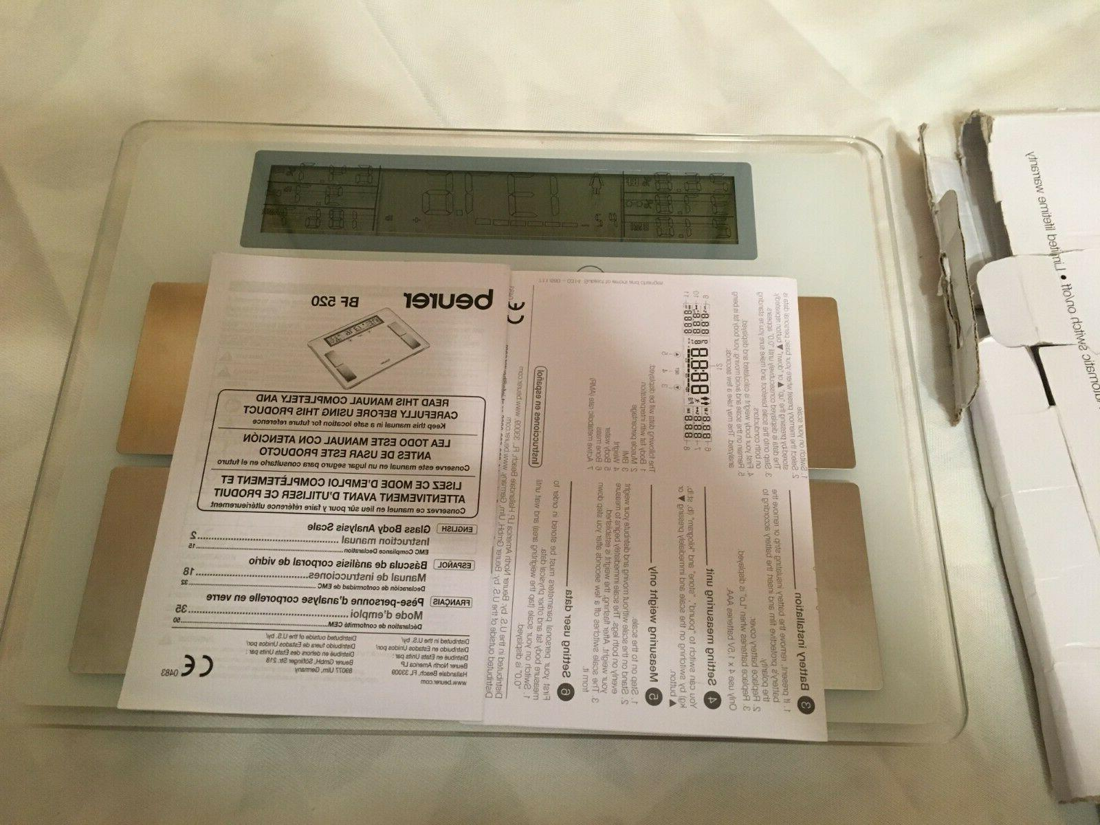 Beurer Glass Scale With LCD New Box