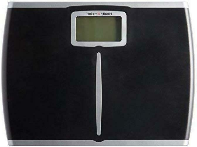 Health-O-Meter Glass Fat Scale Clear Black Frame