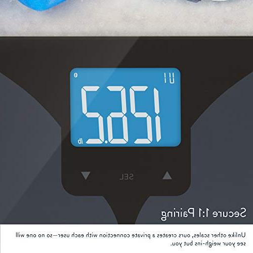 GreaterGoods, Secure your Bluetooth with Body Water Weight, and Bone Mass, Backlit Display