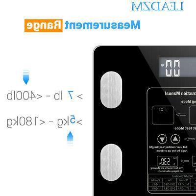 Home Fat Scale Tempered Glass Screen Display BMI