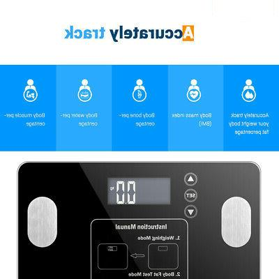Home Body Scale Tempered Screen Display Fat BMI