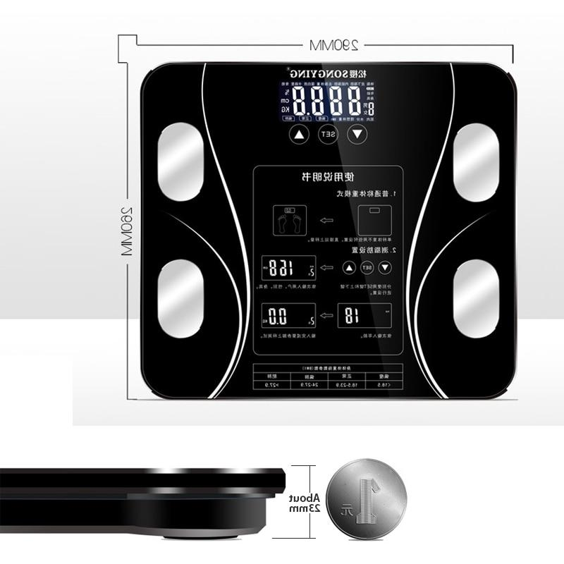 Smart LCD Digital Receive BMI Weight Health Analyzer Weight <font><b>Scales</b></font>