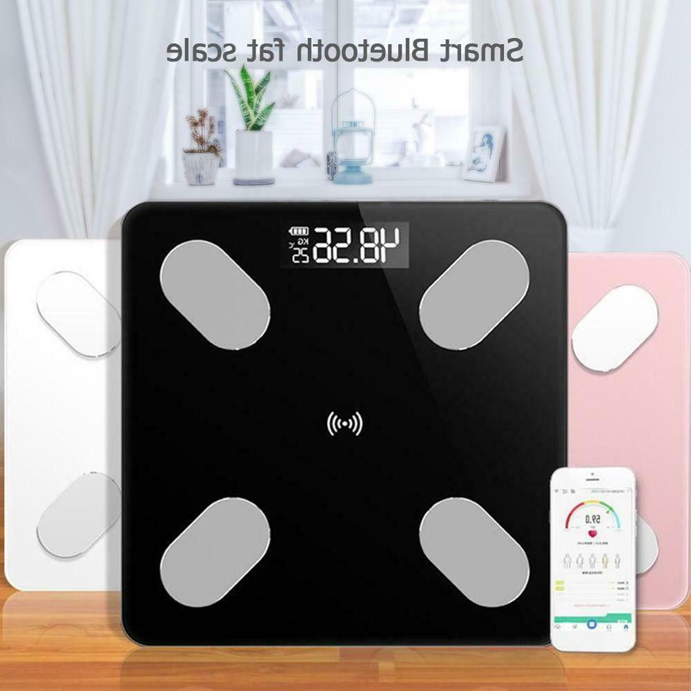 lcd electronic body scales weight fat digital