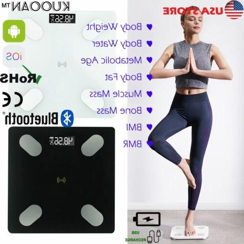 lcd smart digital bluetooth bathroom weight fat
