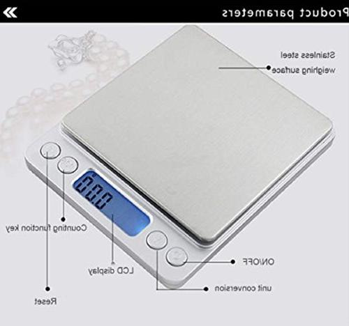 LCD Jewelry Scale Weight 500g 0.01g Electronic Gram