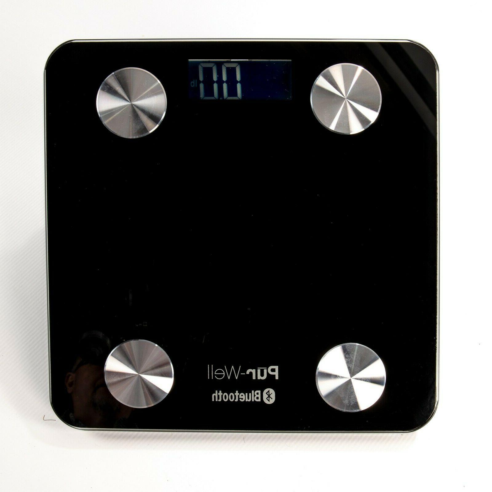 Pur-Well Body Bluetooth Bathroom Scale Weight Loss Digital