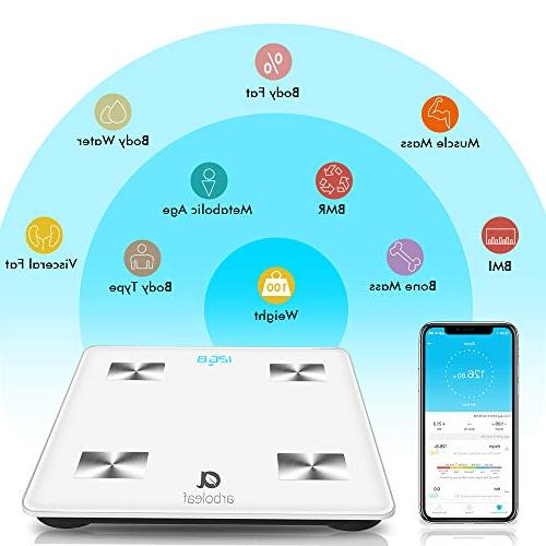 Weight - Fat Smart Scales Weight Wireless with & APP, Unlimited Users, Auto Recognition for Body Fat, BMI, Muscle Mass, Water,