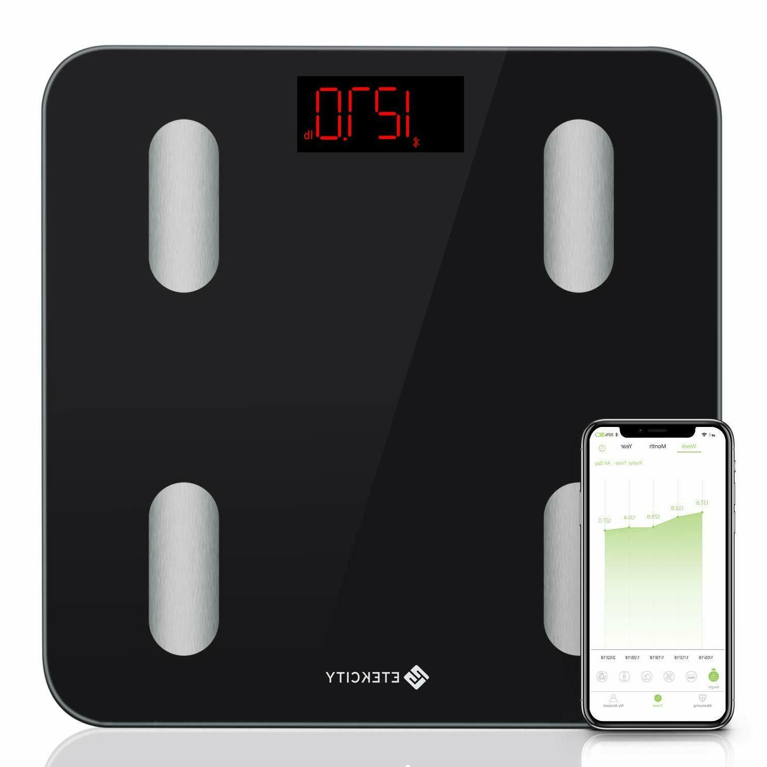 Etekcity Scale Smart Body Fat Scale Bathroom Bluetooth Digit