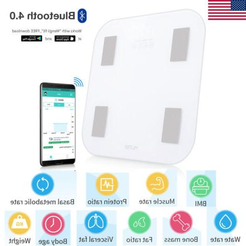 Bluetooth Body Fat Scale Fitness Weigh 11-Data Measure 16-Us