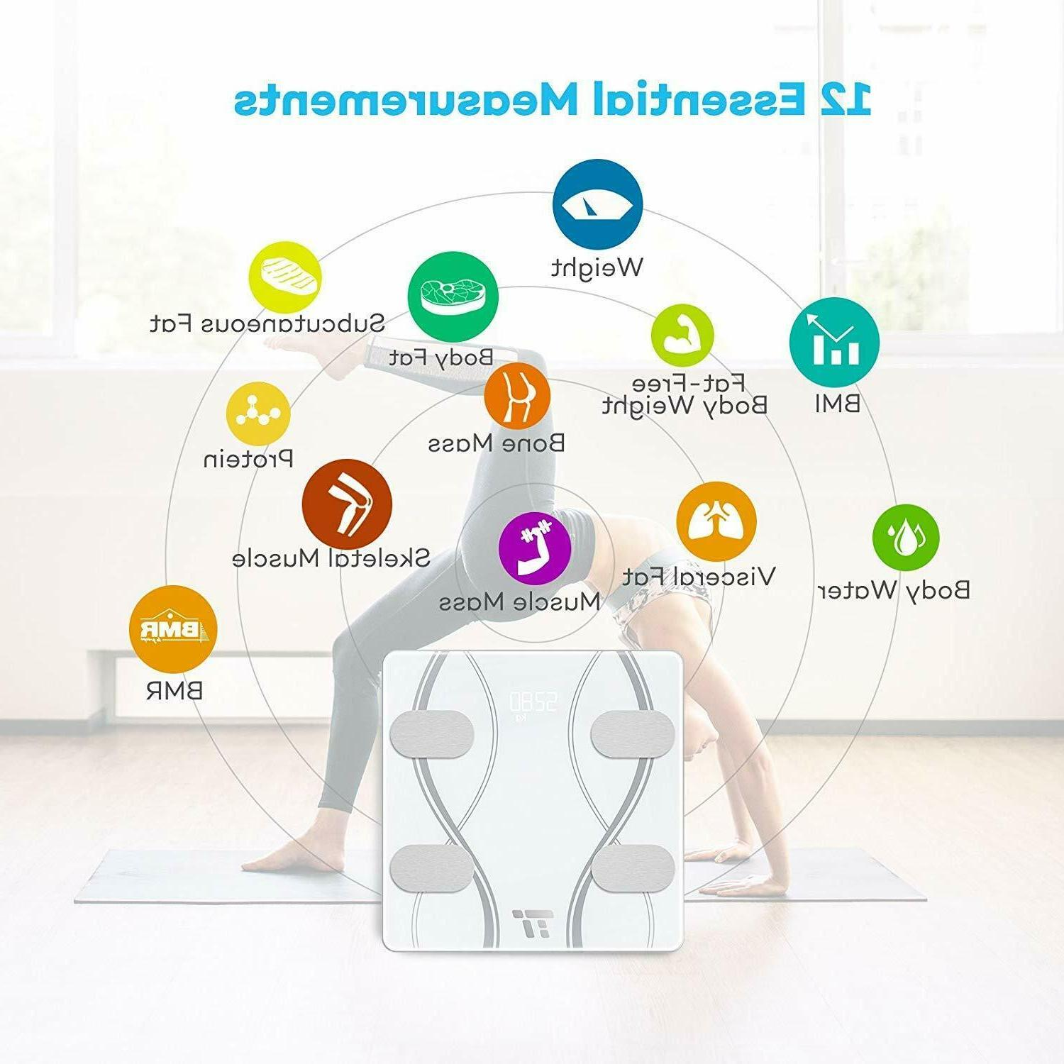 Smart Body Scale Fat Digital Bluetooth APP