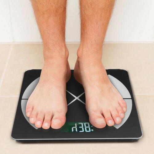 Body Composition Scale Smart Bathroom Weight BMI Scale Black