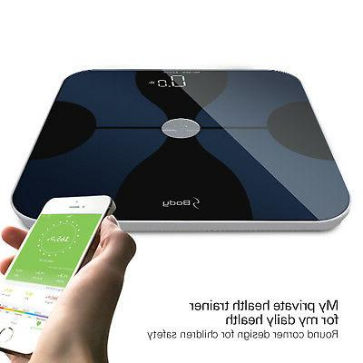 smart body fat composition scale with ios
