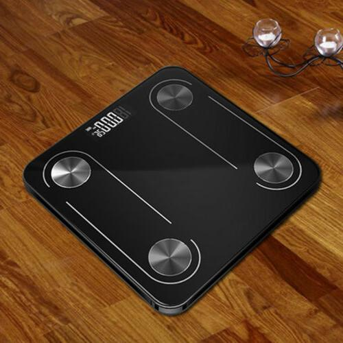 Smart LED Display Body Fat Weight Bluetooth APP Monitor