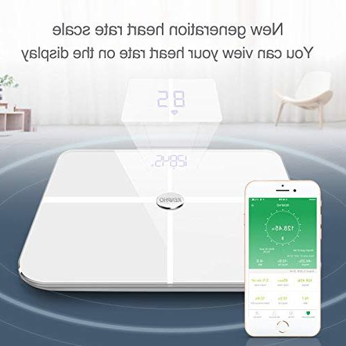 RENPHO Heart Rate Body Scale Bluetooth Digital Scales Wireless Weight 15 Essential Analyzer with Smartphone 396 -