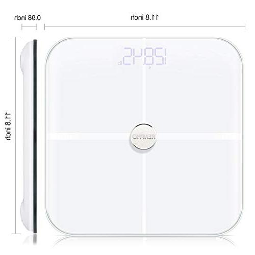 RENPHO Smart Heart Rate Body Digital Weight Scale, 15 Analyzer with 396 lbs