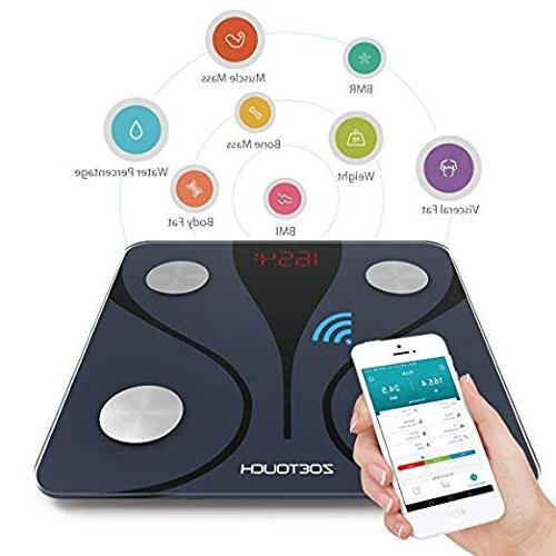 ZOETOUCH Scale with Android Smart Bathroom Weight Scale, Body Composition Monitor -