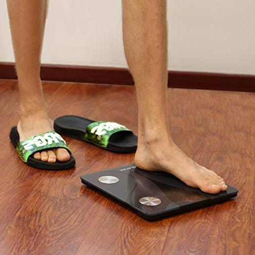 ZOETOUCH Body Scale and Android App, Smart Digital Bathroom Weight Scale, Body Composition