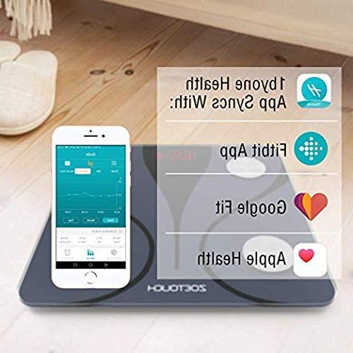 ZOETOUCH Bluetooth Scale Android Bathroom Composition