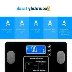 Leadzm Digital Body Fat Scale BMI Water Muscle Calorie Bone