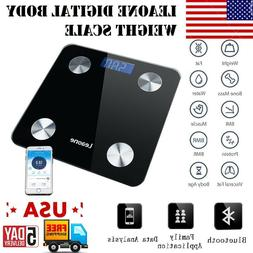 NEW Electronic Smart Digital Body Fat Weighing Scale With Bl