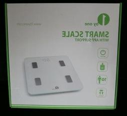 NEW IN BOX  1BYONE BLUETOOTH SMART BODY FAT SCALE IOS & ANDR