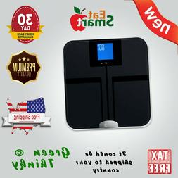 NEW EatSmart Precision Getfit Digital Body Fat Scale Auto Re