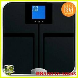 Precision Digital Body Fat Scale Water Muscle.Mass Blue LCD