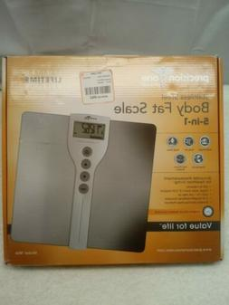 Precision One Stainless Steel Body Fat Scale 5 In 1