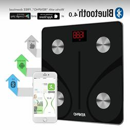 RENPHO Bluetooth Body Fat Scale FDA Approved Smart BMI Digit