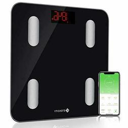 Bluetooth Body Fat Scale Digital Bathroom Weight Scale w/ Sm