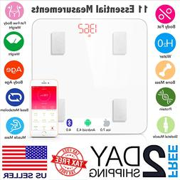 Smart Body Weight Bluetooth Bathroom Scale Body Fat Digital
