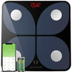 Smart Digital Bathroom Weight Fat Scale Body BMI Mobile Fitb