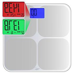 Smart Weigh SMS500 Digital Memory Bathroom Scale with Dual C