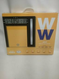 NEW Weight Watchers Taylor Glass Body Fat Scale - Clear