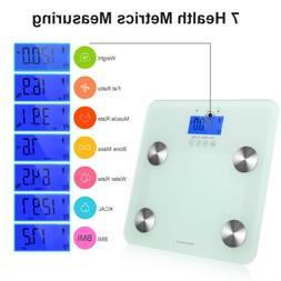 Touch 400 lb Touch LCD Digital Body Fat Scale+6MM Tempered G