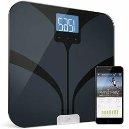 Weight Gurus Bluetooth Smart Connected Body Fat Scale w/ Lar