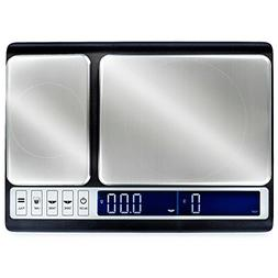 Smart Weigh 10kg x 0.01g Premium Dual Platform Digital Kitch