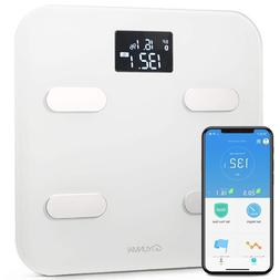 Yunmai Bluetooth 4.0 Smart Scale and Body Fat Monitor White
