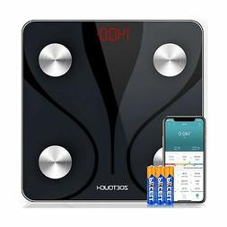 ZOETOUCH Bluetooth Body Fat Scale with iOS and Android App,